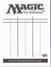 MTG Magic the Gathering Lifepad Score Sheet Life Counter - 20 sheets