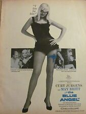 Blue Angel, May Britt, Full Page Vintage Promotional Ad