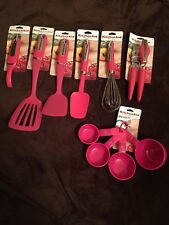 KitchenAid Hot Pink 10 Pc Slotted Turner Spatula Whisk Peeler Can Opener