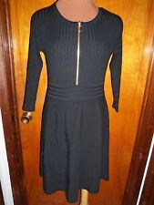 INC International Concepts Black Ribbed Zipper Sweater Dress XL New NWT $99