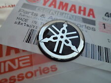 YAMAHA GENUINE 18MM TUNING FORK LOGO BLACK/SILVER DECAL EMBLEM STICKER