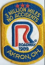 Roadway Express Inc 1989 Akron OH 3 million miles no accidents 4 X 2-3/4