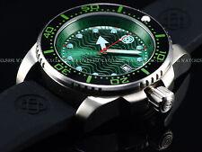 Deep Blue Juggernaut III Swiss Quartz Green Dial Ceramic Bezel Sapphire SS Watch