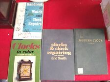 Lot Of Four Clock And Watch repair Books.  Hard  Cover Books