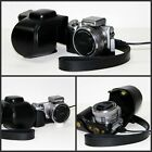 black camera leather case bag for Sony NEX-5TL NEX-5T NEX-5TL/B w/ 16-50mm lens