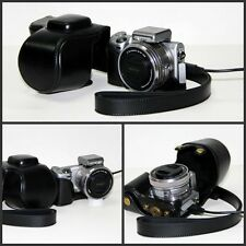 black camera leather case bag for Sony NEX-5TL NEX-5T NEX-5TL/B w/ 16-50mm lens