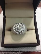 MENS DIAMOND CLUSTER 14K WG  PINKIE RING NO RESERVE APPROX .75TCW