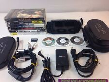 SONY PSP 3001 HANDHELD GAME CONSOLE BLACK BUNDLE W/ Case + GOOD Games + MORE