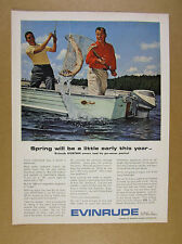 1964 Evinrude Sportwin 9 1/2 hp Outboard Mirro Craft boat photo vintage print Ad