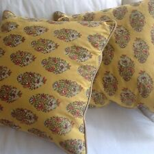 """Lot of 2 ~ Pottery Barn MARIGOLD YELLOW FRENCH PROVENCE LOOK - LINEN Pillow 18"""""""