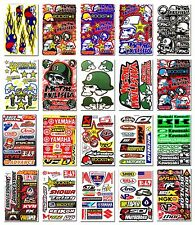 MTB Motobike Racing Motorcycle Vinyl Graphic Kits Decal Car Bike Stickers Lot