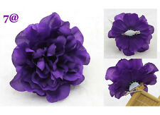 NEW Women's Silk Rose dark purple Artificial flowers Hair Accessory Hairpin Prom