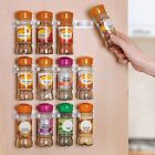 2PCs Spice Wall Rack Storage Plastic Kitchen Organizer 5 hooks/1pcs