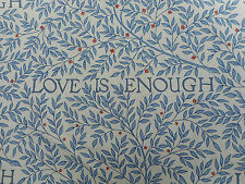 William Morris Curtain Fabric 'Love is Enough' 2.5 METRES China Blue/Vellum