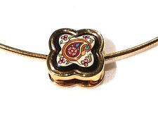 Bijou alliage doré collier MICHAELA FREY WILLE émaillé necklace