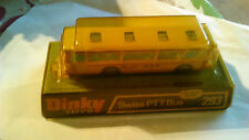 DINKY TOYS SWISS PTT BUS 293 BROWING TO PLASIC TOP.