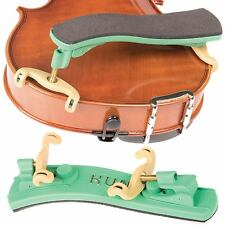 Kun Collapsible Green 1/16-1/4 Violin Shoulder Rest - AUTHORIZED DEALER!