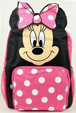 "2016 Minnie Mouse ""Big Dotted Bow"" Backpack Kids 14"" Girls Backpack - New Arrive"