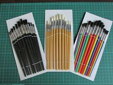 36PC ARTIST CRAFT HOBBY PAINT BRUSH SET SUIT WATER COLOUR OILS & ACRYLIC