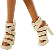 Barbie Shoes Glam Luxe Off White Heels Also Fit 2016 CURVY TALL & Model Muse