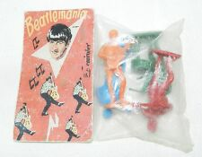 ** RARE COLLECTABLE BEATLEMANIA : 4 FIGURES BEATLES - 60's - VINTAGE MEMORABILIA