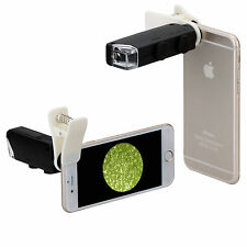 Neewer 60X-100X Zoom Mobile Phone LED Microscope Lens with Universal Clamp