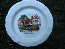 Chauvigny Porcelain AshTray OLD COACH HOUSE/ WOOLHAPTON Made in France Lovely!!