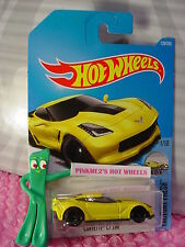 CORVETTE C7 Z06 #128✰yellow;black pr5✰Factory Fresh✰2017 i Hot Wheels case G
