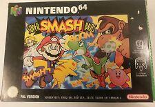 Super SMASH BROS NINTENDO 64 muy raro Pal versión en caja y COMPLETO Mario