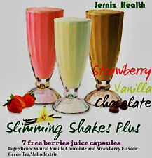 Complete Slim Plan*Diet Juice Shakes,Chocolate&Vanilla plus Free Berry Capsules
