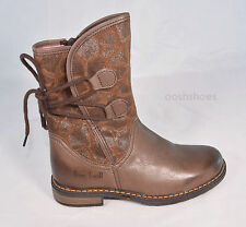 Bo-bell Girls Pillow Brown Leather Zip Boots UK 2.5 EU 35 US 3 RRP £72.00