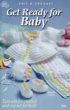 Get Ready for Baby ~ Layette Sets & Afghans crochet and knit patterns