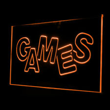 130022 Games Shop Room Software Kids Toys Display Accessible LED Light Sign