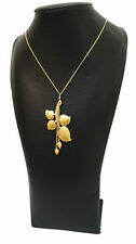 NEW PILGRIM GOLD NECKLACE  WOMEN'S JEWELRY PEARLS & LEAF PENDANT RARE & DELICATE