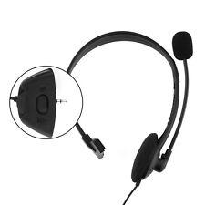 Gaming Headset Earphone Headphone Black W/MIC W/Volume For Xbox 360 Live