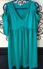 see by chloe vintage silk dress teal satiny size I 44 u.s. 8