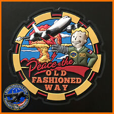 PEACE THE OLD FASHIONED WAY AIRBORNE COMMAND POST FALLOUT MORALE PVC PATCH E-6B