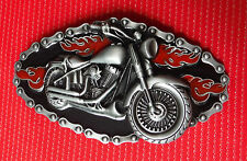 VINTAGE CLASSIC INDIAN CHOPPER BIKE CHAIN MOTORCYCLE MOTORBIKE BELT BUCKLE