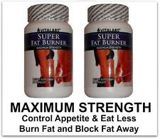 2x Strong Fat Burner Tablets Burn Fat  Cellulite Diet Pills Weight Loss Slimming