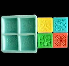 Soap Mold Square Flower Flexible Silicone Mould For Candle Resin Candy Craft