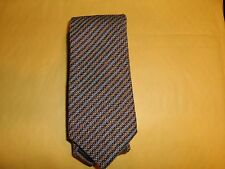 MOSCHINO MEN'S TIE BROWN TAN NEW 60% WOOL 40% SILK MADE IN ITALY