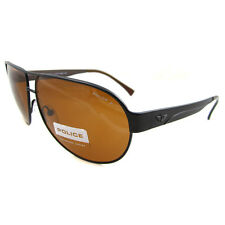 Police Sonnenbrille 8511 R07P Matt Black Charcoal Brown Polarized