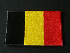 NATIONAL WORLD COUNTRY EMBROIDERED FLAG SEW/IRON ON PATCH:- BELGIUM