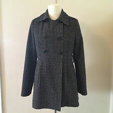 Miss Posh 3/4 Length black Coat with a little white shapes all over. Size 12/14