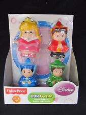 Fisher Price Little People Disney Princess Aurora and Friends 4 Pack Figures New