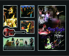 New Deep Purple Signed Limited Edition Memorabilia Framed