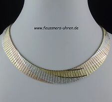 Kette Silber 925 Tricolor  15 mm  43,5 cm Länge Collier Italy