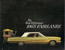 Ford Fairlane 1965 USA Market Sales Brochure Sedan Hardtop 500 Wagon