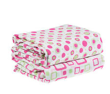 NEW Set of 2 Hot Pink & Lime Muslin Swaddle Blankets  45 x 45