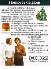 PUBLICITE  1974   HOM  sous vetements HOMOVER slip